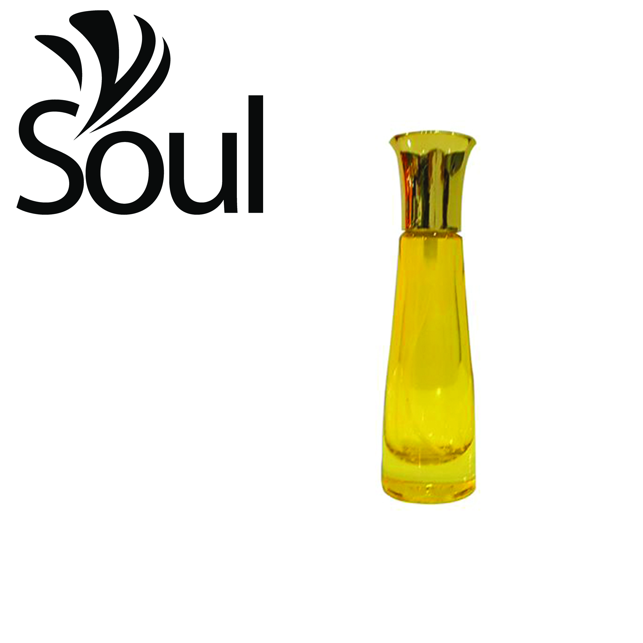 Botol Minyak Wangi Oval UV Kuning - 20ml - 10pcs